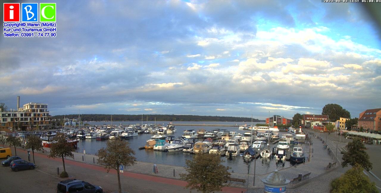 Stadthafen von Waren Blick 1