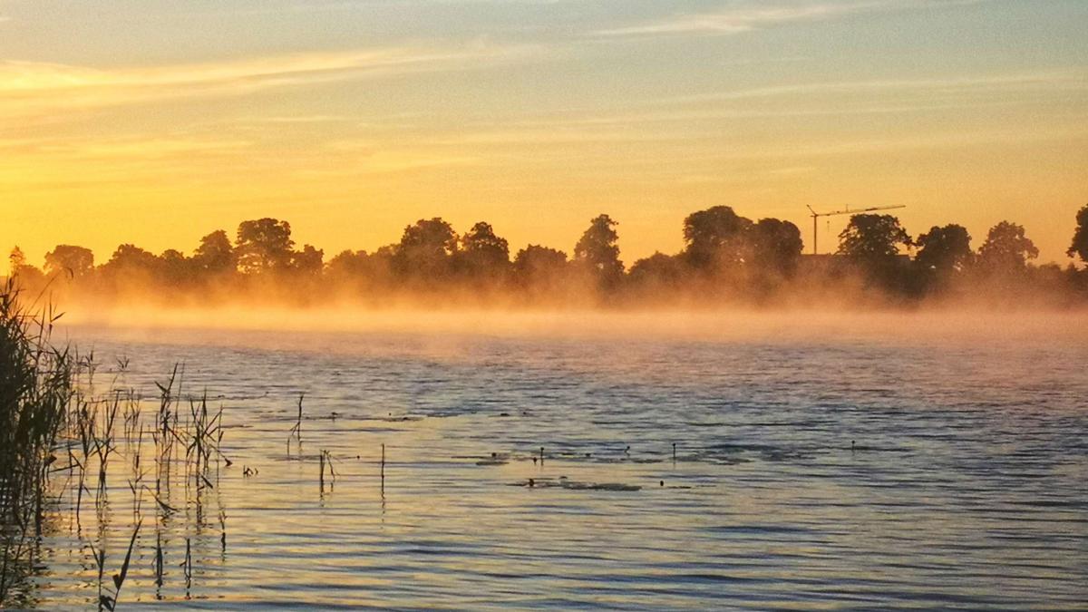 Melzer See, Nebel