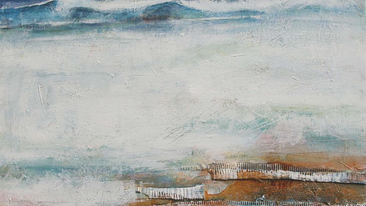 Strand, 110 x 120, Acryl auf Leinwand