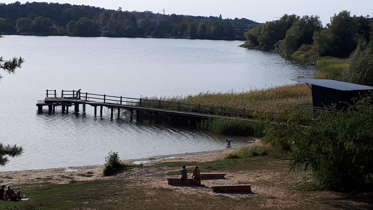 Badestelle Feisneck mit Brücke