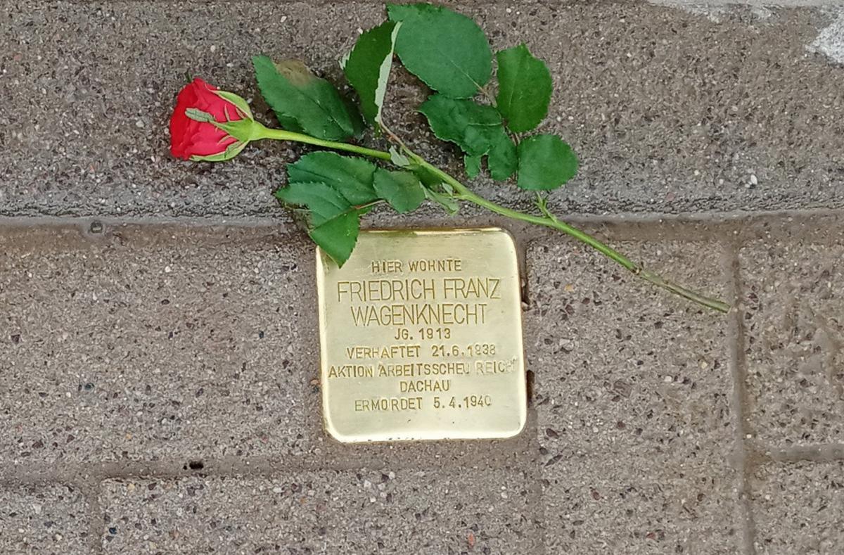 Stolperstein in der Feldstraße